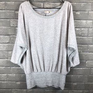 9-H15 STCL Anthropologie Soft Scoop Neck Top